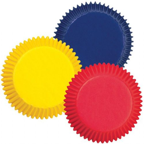 Assorted Primary Colours Baking Cups